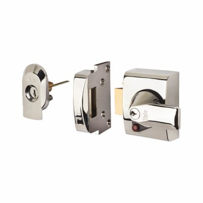 Yale® PBS2 BS3621:2007 Nightlatch - 40mm Backset - Polished Chrome