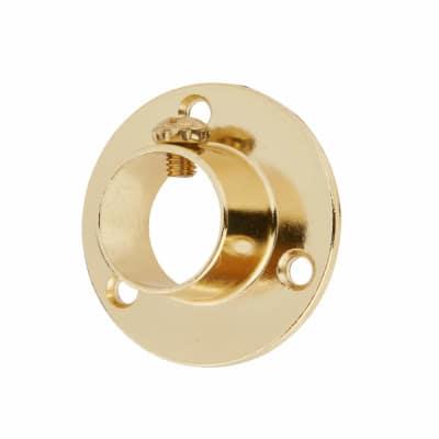 Tube End Socket Pack With Locking Grub Screws - 19mm - Brass - Pack 2