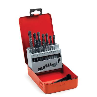 HSS-R Jobber Drill Bit Set 1-10mm - 19pcs