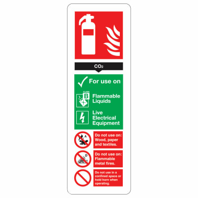 CO2 Extinguisher - 300 x 100mm