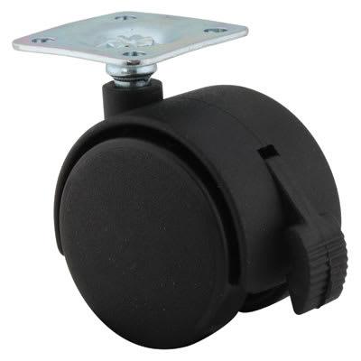ION Mini Twin Wheel Castor - With Brake - 40mm Wheel Diameter - Pack 4
