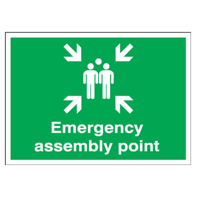 Emergency Assembly Point - 250 x 350mm - Rigid Plastic