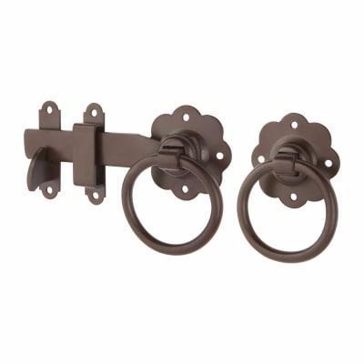 Ring Gate Latch - 152mm - Brown