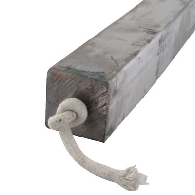 Lead Square Sash Weight - 16.3kg - 50 x 50 x 600mm