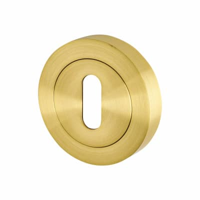 Touchpoint Escutcheon - Keyhole - Satin Brass