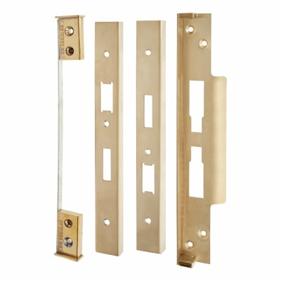 A-Spec Architectural Rebate Kit for DIN Euro Sashlock and Bathroom Lock - PVD Brass