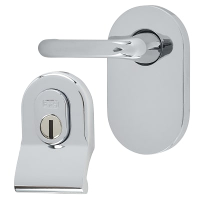 A-Spec Cylinder Pull and Disabled Turn for Mortice Nightlatch - Polished Chrome