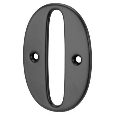 76mm Numeral - 0 - Black