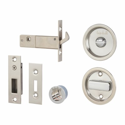 KLÜG Round Flush Privacy Set with Bolt - Stainless Steel Grade 304 - Polished