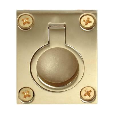 Altro Flush Ring - 48 x 38mm - PVD Brass