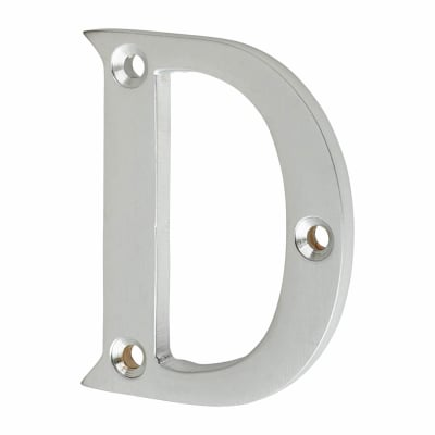 53mm Screw Fixed Letter - D - Satin Chrome