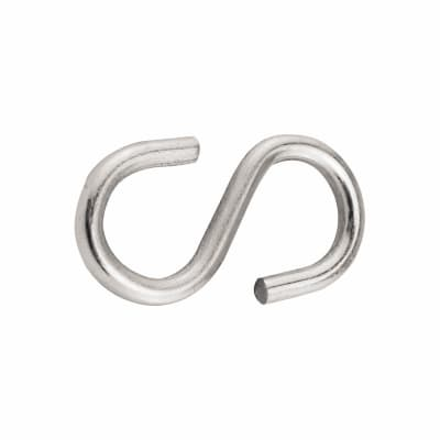 S Hook - 5mm - Zinc Plated - Pack 10
