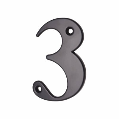 76mm Numeral - 3 - Black