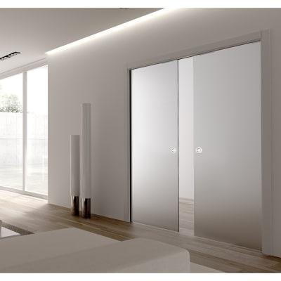 Eclisse 8mm Glass Double Pocket Door Kit - 125mm Wall - 762 + 762 x 1981mm Door Size