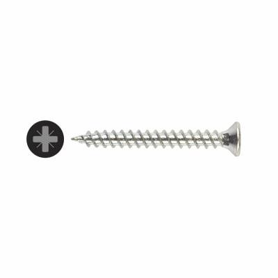 TIMco Countersunk Twin Thread Pozi Screw - 4 x 1