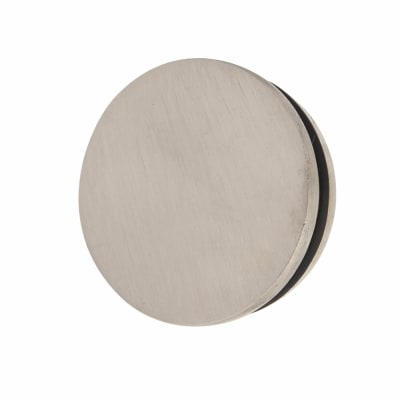 Solid Brass Flat End Cap - 51mm Diameter - Satin Nickel Plated