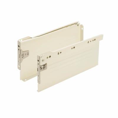 Motion Innobox Metal Drawer Runner Pack - (H) 118mm x (D) 450mm - Cream