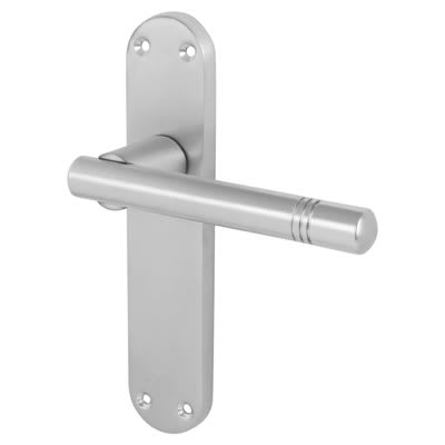 Morello Bologna Door Handle - Latch Set - Satin Chrome