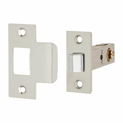 Passage Latch - 65mm Case - 57mm Backset - Polished Stainless Steel
