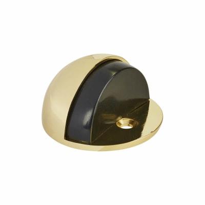 Oval Floor Door Stop - 45mm - Polished Brass