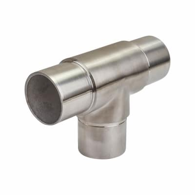Balustrade 3 way Equal Tee - 316 Stainless Steel - Brushed Satin