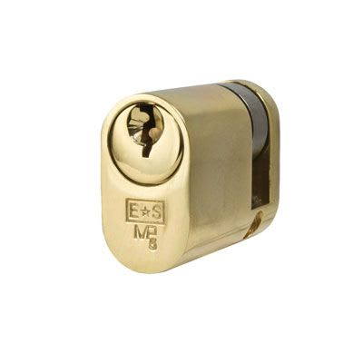 Eurospec MP5 - Oval Single - 30 + 10mm - Polished Brass  - Keyed Alike