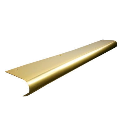 Altro Bull Nose Door Step - 900mm - Polished Brass
