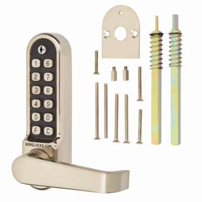 Borg BL5408 Easicode Pro Code Operated Panic Access Lock with Flat Bar Lever Handle - Stainless Ste
