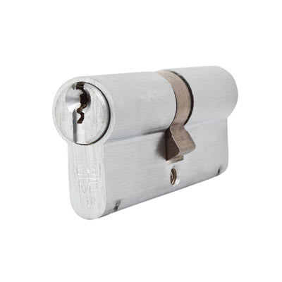 Eurospec MP10 - Euro Double Cylinder - 35 + 35mm - Satin Chrome - Keyed to Differ