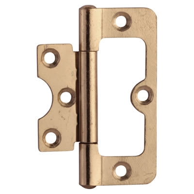 Hurlinge Hinge - 75 x 51 x 1.5mm - Brass Plated - Pair