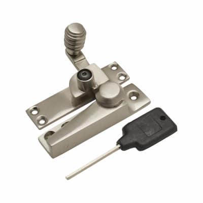 London Beehive Pattern Locking Fastener - 20mm - Satin Nickel