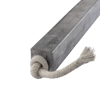 Lead Square Sash Weight - 6.26kg - 32 x 32 x 600mm