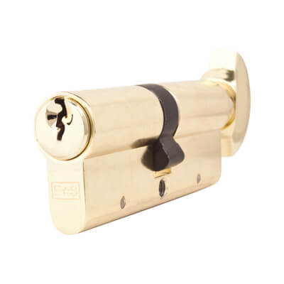 5 Pin Cylinder - Euro Thumbturn - Length 80mm - 40[k]* + 40mm - Brass
