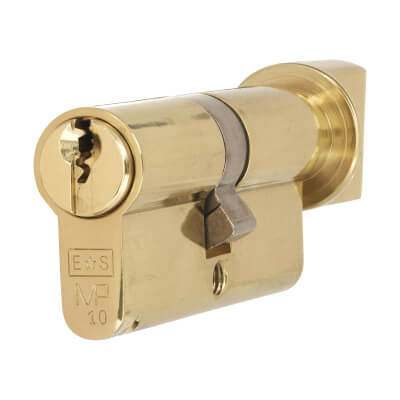 Eurospec MP10 - Euro Cylinder and Turn - 35[k] + 35mm - Polished Brass  - Keyed Alike