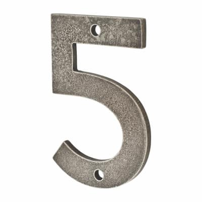 Finesse Numeral Number - 5 - Pewter