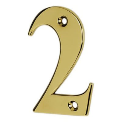 76mm Numeral - 2 - Gold