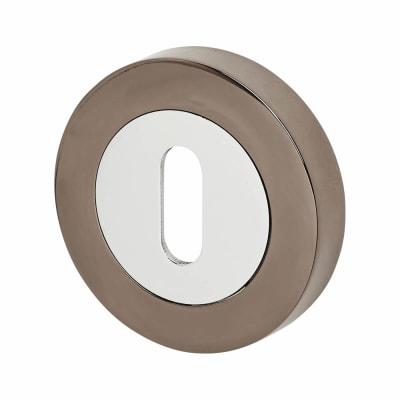 Excel Escutcheon - Keyhole - Polished Chrome / Black Nickel