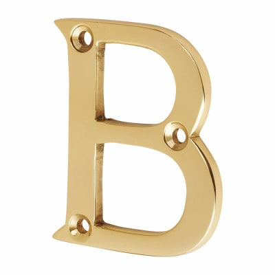 53mm Screw Fixed Letter - B - Polished Brass