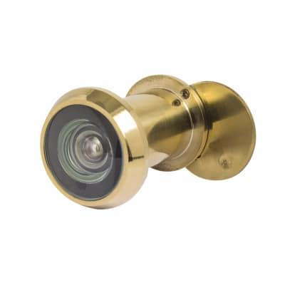 Steelworx SWE1010 Stainless Steel Large Door Viewer 200 Deg - Polished Brass