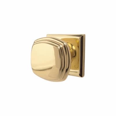 Jedo Square Deco Mortice Door Knob - Polished Brass