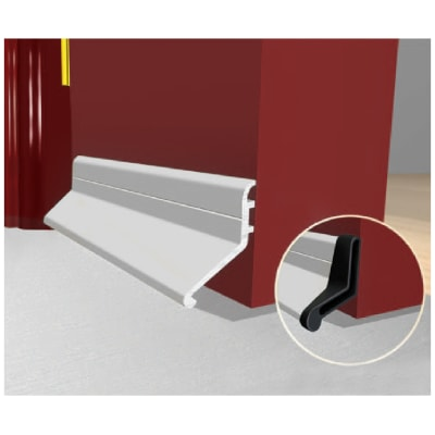 Exitex Slimline Rain Deflector and Drip Weather Bar - 914mm - Mill Aluminium
