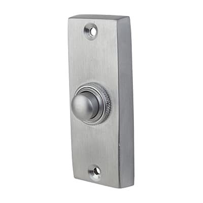 Plain Bell Push - 76 x 25mm - Satin Chrome
