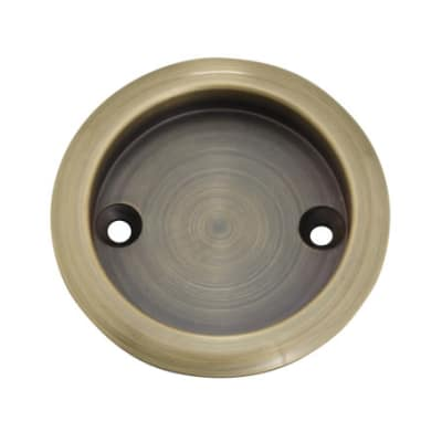 KLÜG Round Screw Fixed Flush Handle - 63mm - Antique Brass