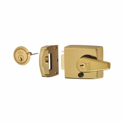ERA® Double Locking Nightlatch - 60mm Backset - Brass