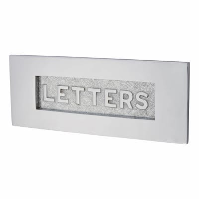 Morello Embossed Letter Plate - 254 x 101mm - Polished Chrome