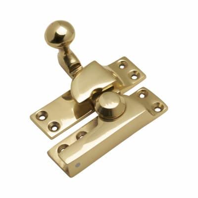 Quadrant Arm Sash Fastener - 69mm - Polished Brass