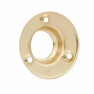 Tube End Socket Pack - 25mm - Brass Plated - Pack 2