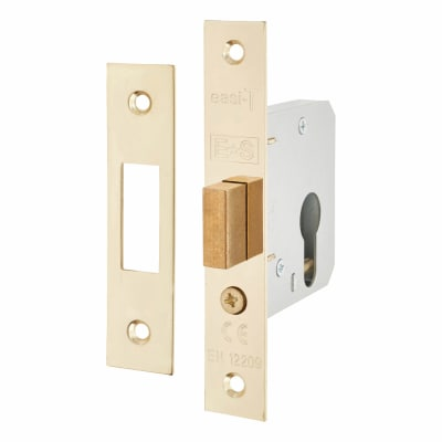 Project Contract Euro Profile Deadlock - 65mm Case - 44mm Backset - Electro Brass