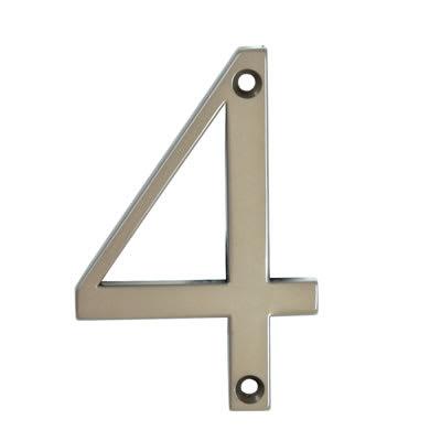 76mm Numeral - 4 - Bright Bronze