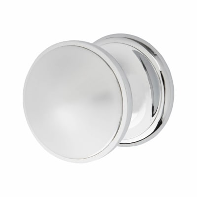 M Marcus Round Centre Door Knob - 82mm - Polished Chrome